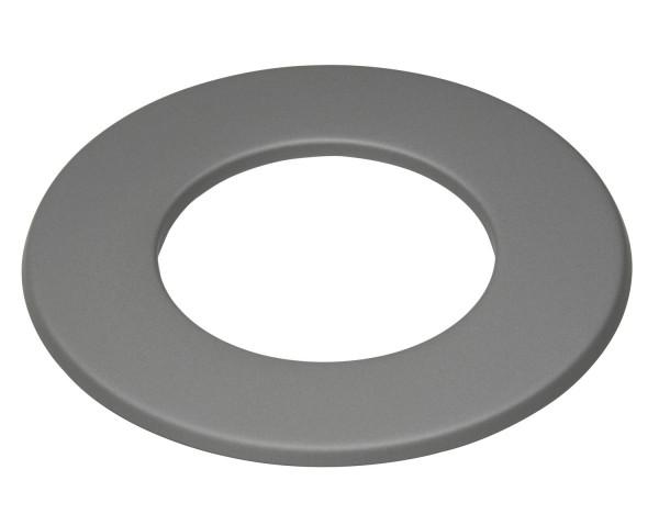 Wandrosette Stahl Randbreite 30 mm hellgrau