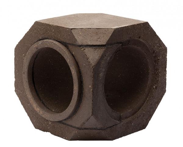 Keramik Modul Speicher 300 Bogen 90° 300 x 300 x 300 mm, Ø 180 mm