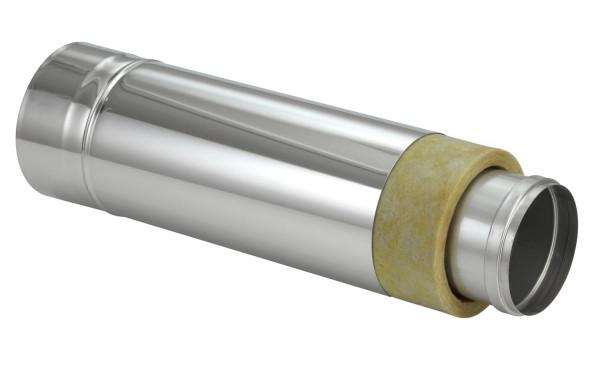 Schornsteinrohr Edelstahl 500 mm doppelwandig kürzbar - eka chromos D 25