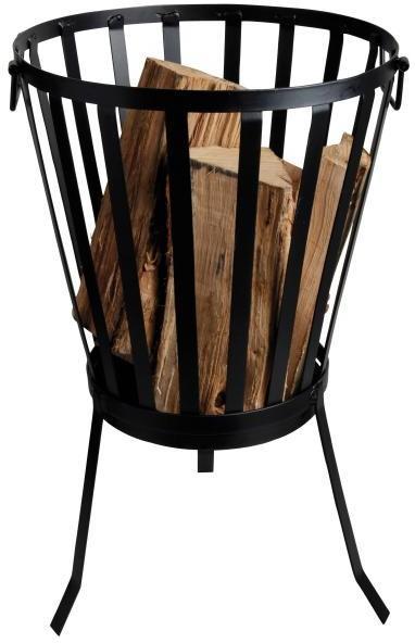 Feuerkorb, Ø 35 x 57 cm, Stahl schwarz