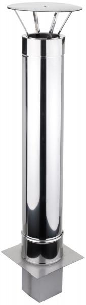 Schornsteinverlängerung 2,0 m doppelwandig Edelstahl - konfigurierbar