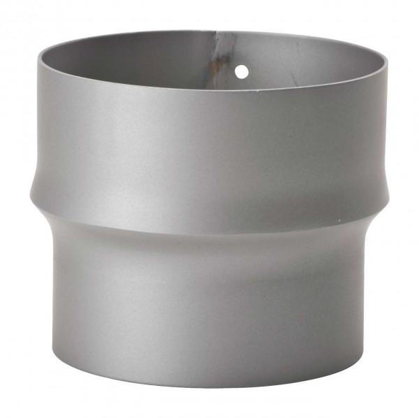 Erweiterung Rauchrohr Stahl hellgrau, eng-weit
