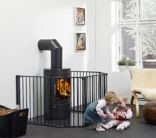 Kaminschutzgitter BabyDan Flex XL 5-teilig, schwarz