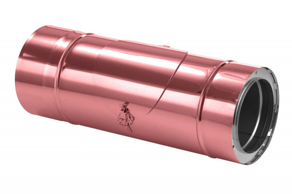 Schornsteinrohr 540 mm doppelwandig mit Prüföffnung verkupfert - eka complex D 50