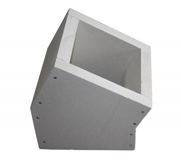 F90 Schacht Bogenelement 30° aus Kalziumsilikat-Platten - eka L90 Compact