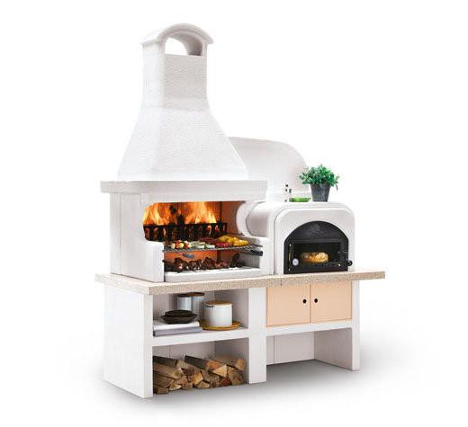 Outdoorküche Palazzetti MALIBU - Grill mit Backofen rechts