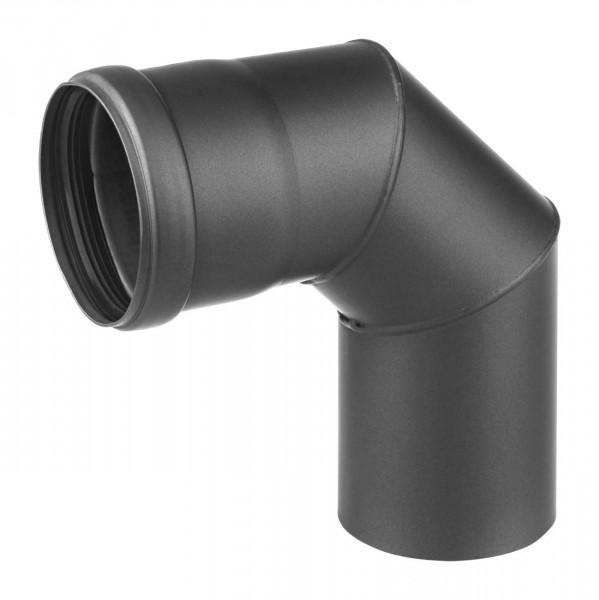 Pellet-Ofenrohrbogen Stahl 90° schwarz