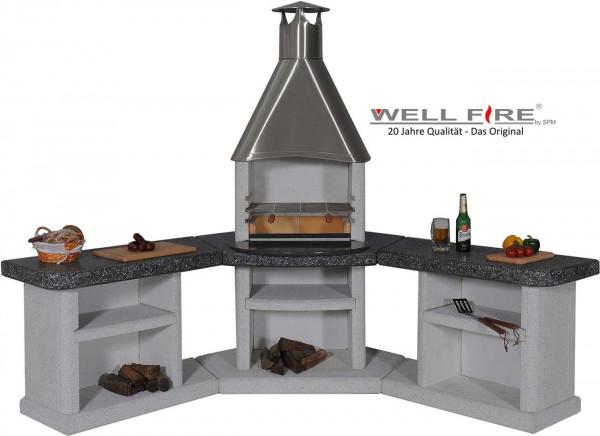 Outdoorküche mit Grillkamin Wellfire ARDEA