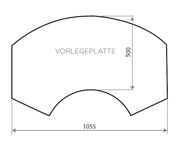Vorlegeplatte ESG Klarglas Nordpeis Kaminbausatz Ronda / Ronda 160