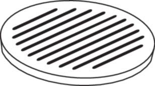 Ofenrost Gusseisen, Ø 24 cm