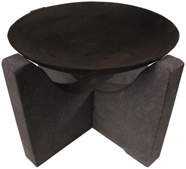 Feuerschale Granito, Ø 58 cm, schwarz Granit