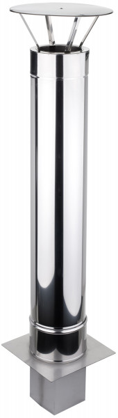 Schornsteinverlängerung 0,3 m doppelwandig Edelstahl - konfigurierbar