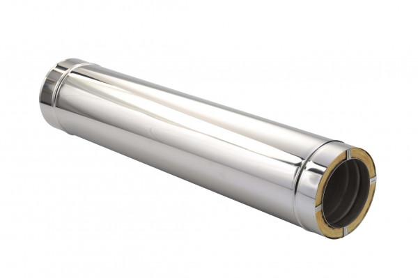 Schornsteinrohr Edelstahl 1000 mm doppelwandig - eka chromos D 25