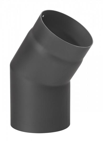 Rauchrohrbogen Stahl 33° schwarz