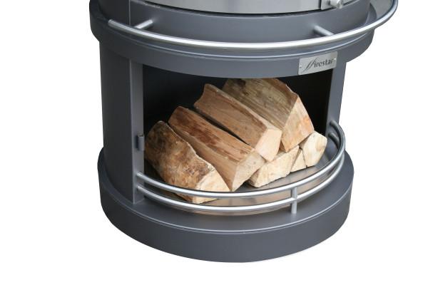 Einlegeboden für Holzlagerung Grillkamin Firestar DN 800