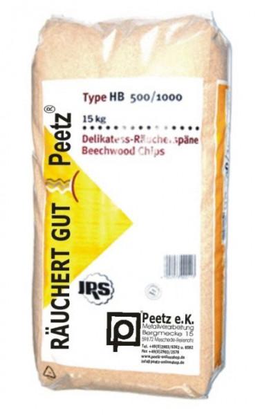 Peetz Delikatess-Räuchermehl Typ HB 500 / 1000, 15 Kg