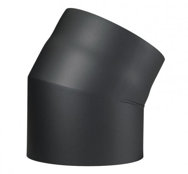 Rauchrohrbogen Stahl 30° doppelwandig Ø 150 mm schwarz