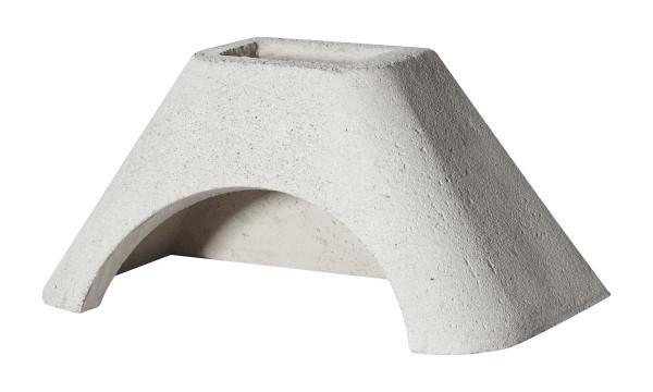 Betonhaube Grillkamin weiß, 84 x 47 x 41 cm