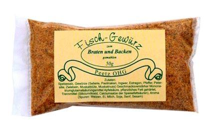 Peetz Fischgewürz zum Braten und Backen, 50 g
