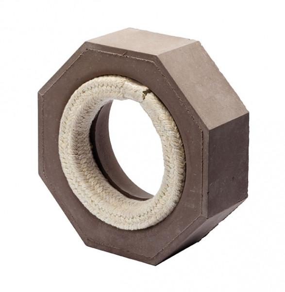Keramik Modul Speicher 300 Anschlussstück auf Eisenrohr 300 x 300 x 100 mm, Ø 160 mm