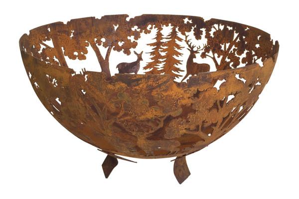 Feuerschale Rost Waldmotiv, Ø 58 x 37 cm