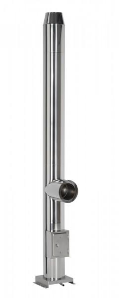 Edelstahlschornstein Design 4,2 m doppelwandig - eka cosmos D 25