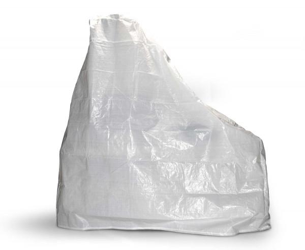 Grillkamin Abdeckhaube aus PE Gewebe weiß 220 x 220 x 92 cm
