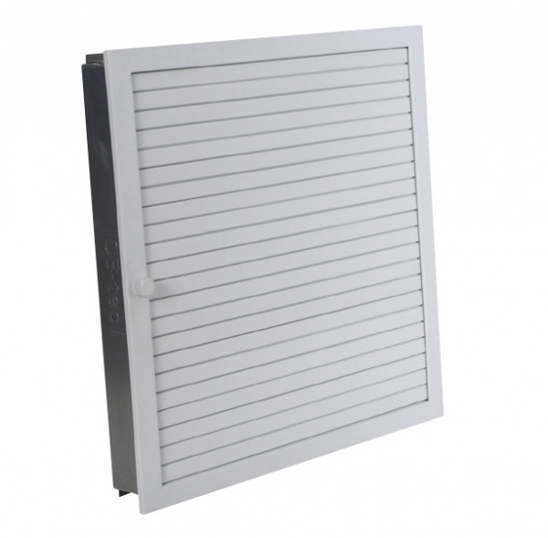 Warmluftgitter für Revisionstür 45 x 45 cm weiß