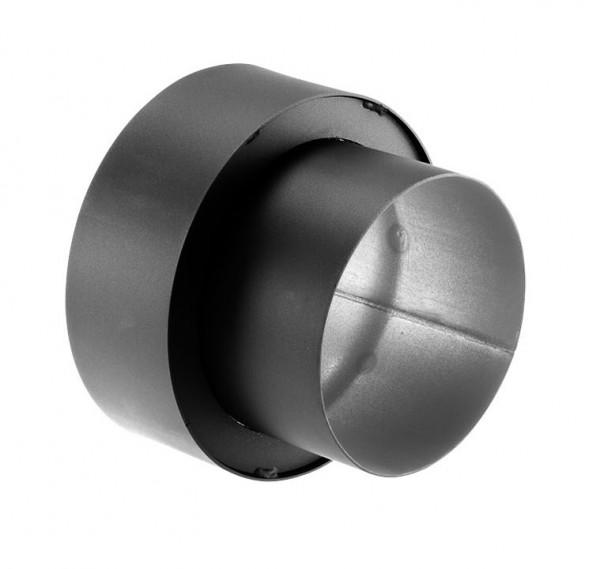 Anschlussstück Wandfutter Rauchrohr Stahl doppelwandig 150 mm Ø 150 mm schwarz