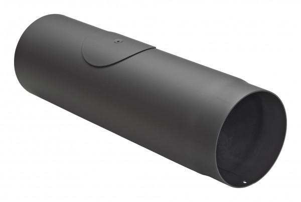 Rauchrohr Stahl 500 mm Ø 150 mm schwarz mit Tür