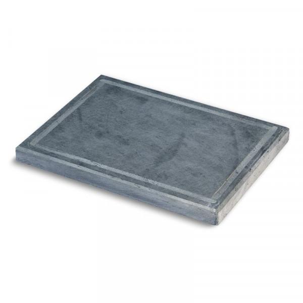 Pizzaplatte Speckstein mit umlaufender Nut 40 x 30 cm