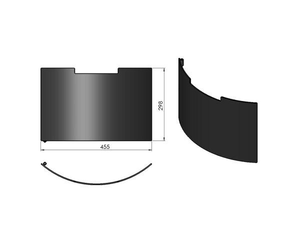 Termatech TT10 Tür für Holzfach schwarz
