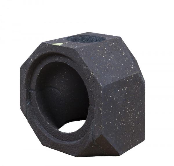 Keramik Modul Speicher 240 Bogen 90° Bohrung oben 240 mm x 240 mm x 240 mm, Ø 160
