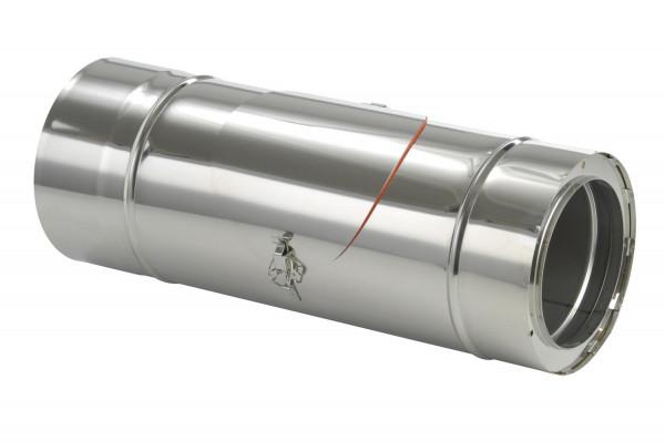 Schornsteinrohr Edelstahl 540 mm doppelwandig mit Prüföffnung - eka complex D 25