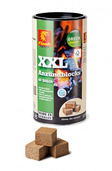 Kaminanzünder Holz Wachs, Dose 40 Würfel
