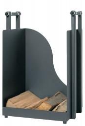 Holzkorb Lienbacher aus Stahl, anthrazit beschichtet