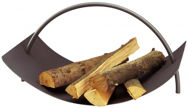 Holzlege aus Stahl mit Tragegriff, anthrazit
