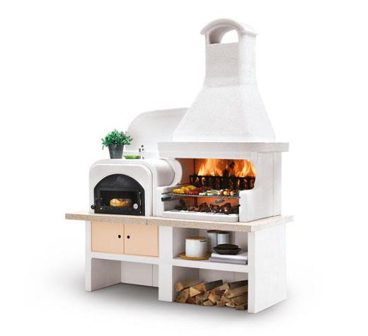 Outdoorküche Palazzetti MALIBU - Grill mit Backofen links