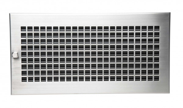 Warmluftgitter 45 x 23 cm schwarz Designblende D3 Edelstahl matt