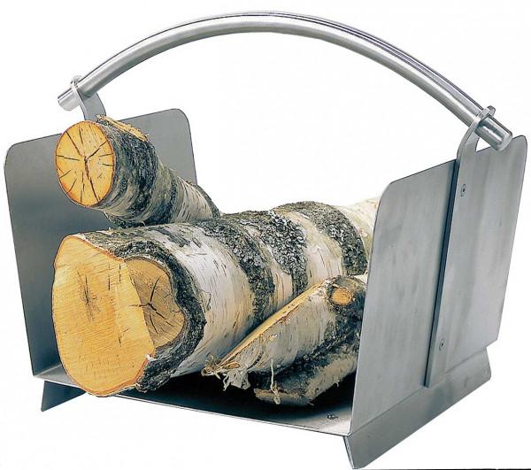 Holzkorb Lienbacher aus Edelstahl, matt gebürstet