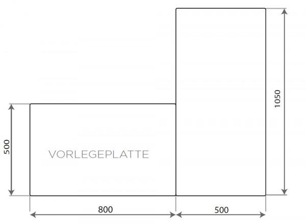 Vorlegeplatte ESG Klarglas Nordpeis Speicherofen Salzburg C