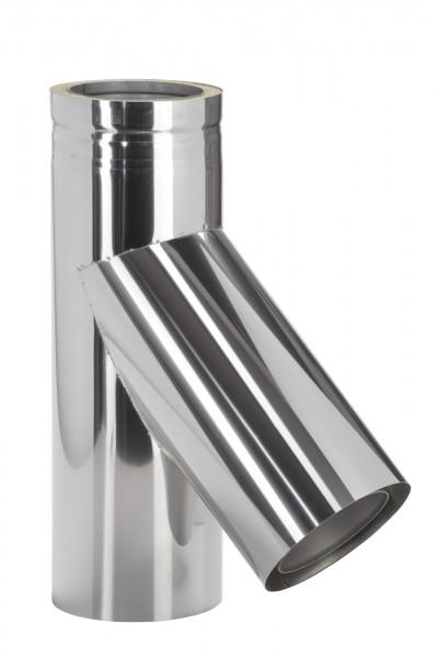 Feuerungsanschluss 45° Design Edelstahl doppelwandig - eka cosmos D 25